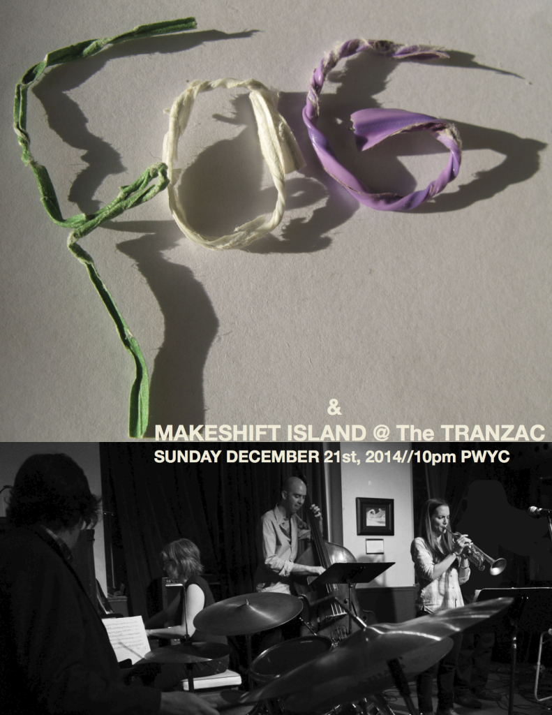 Poster-FOG and Makeshift Island Tranzac Dec 21st:14